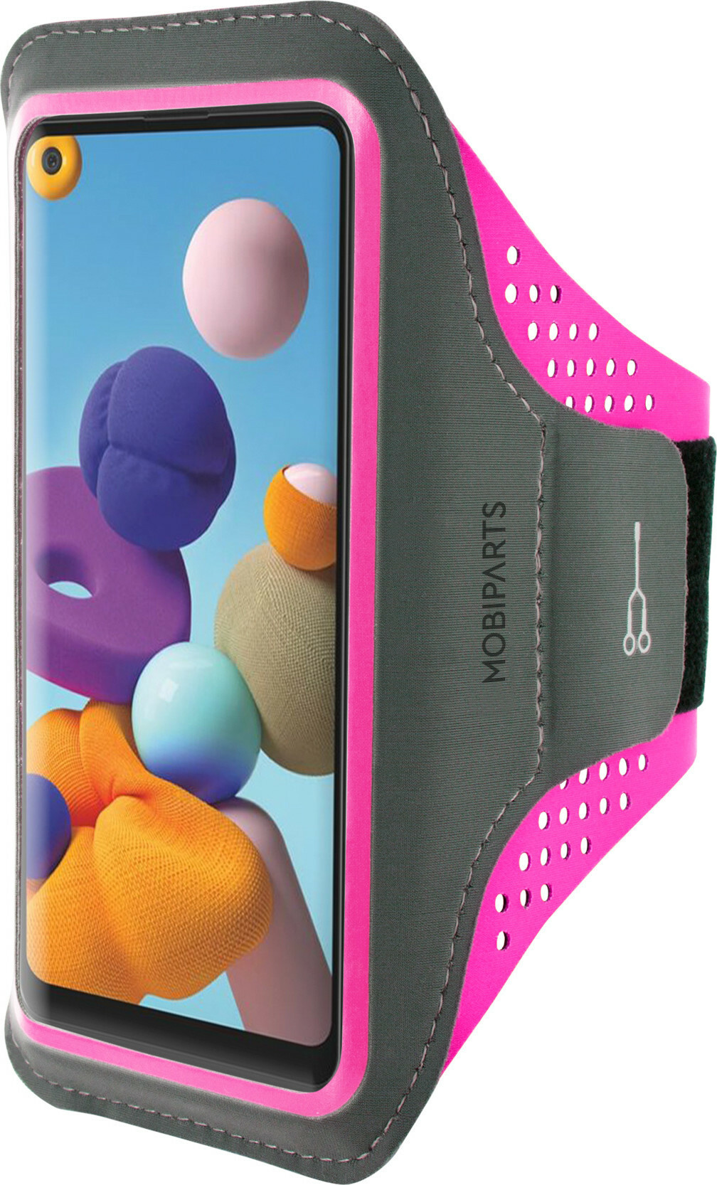 Mobiparts Comfort Fit Sport Armband Samsung Galaxy A21s (2020) Neon Pink