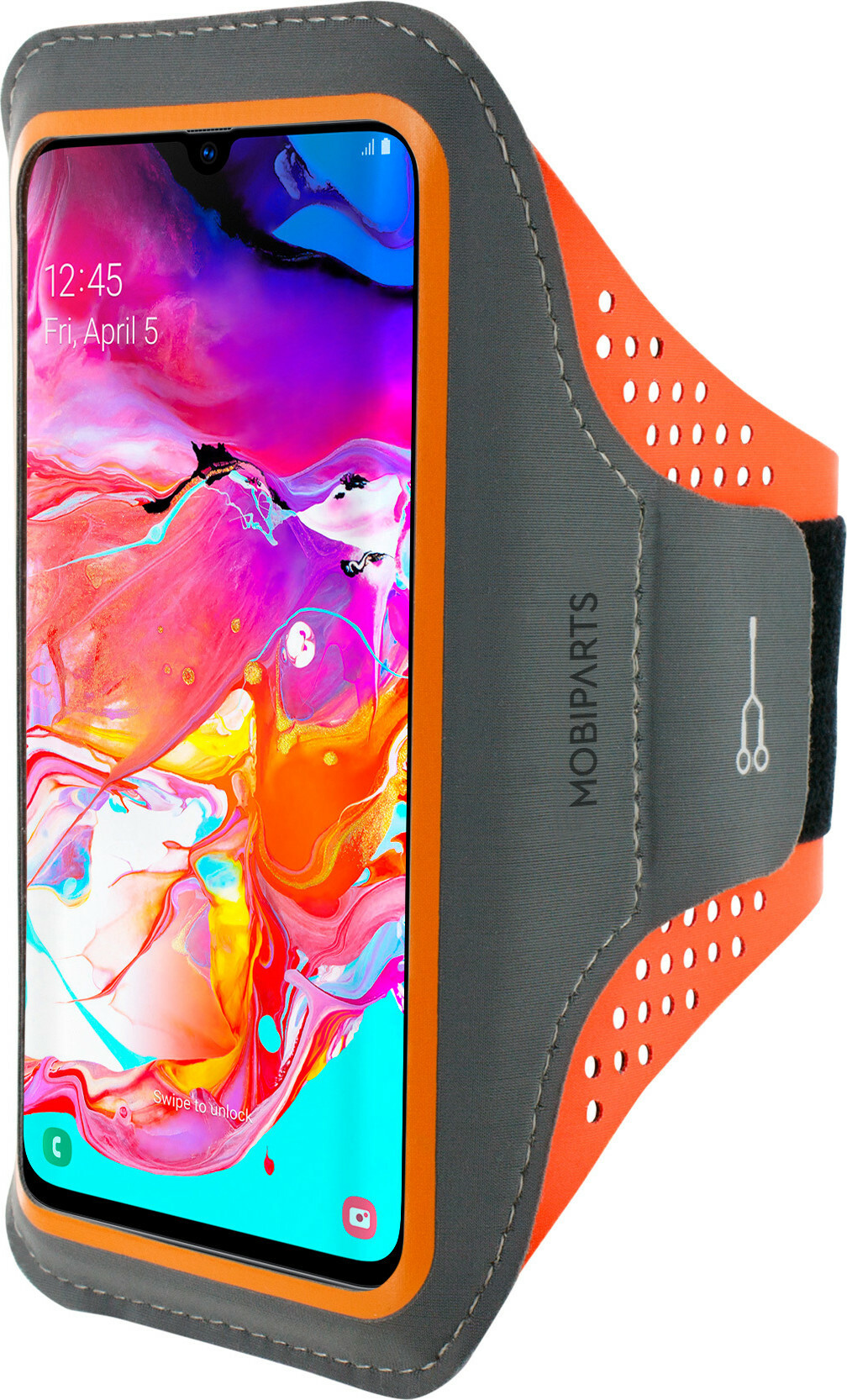 Mobiparts Comfort Fit Sport Armband Samsung Galaxy A70 (2019) Neon Orange