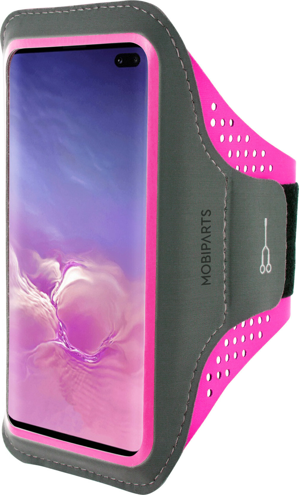 Mobiparts Comfort Fit Sport Armband Samsung Galaxy S10 Plus Neon Pink