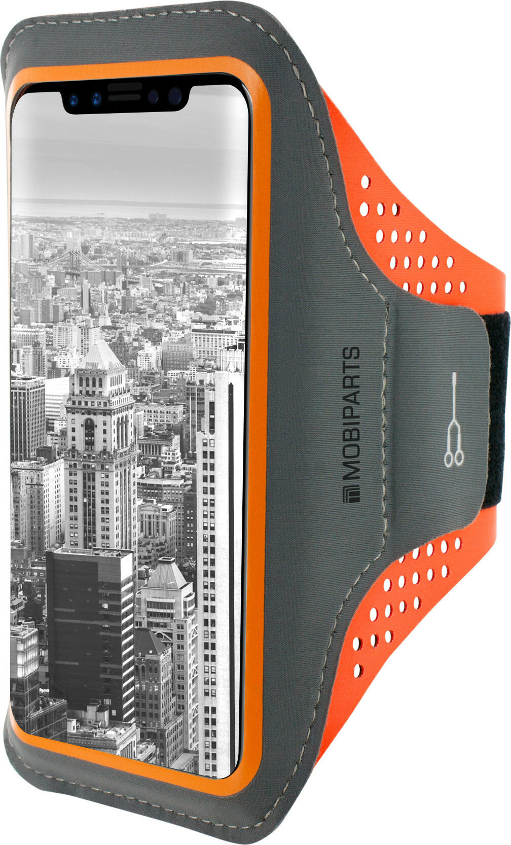 Mobiparts Comfort Fit Sport Armband Apple iPhone 11 Neon Orange