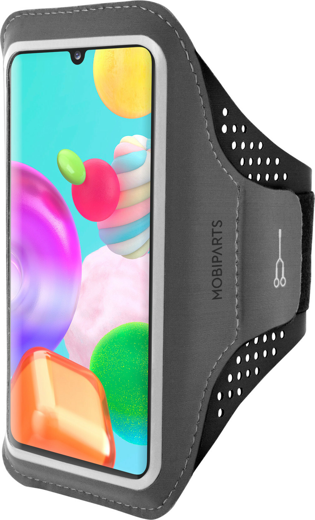 Mobiparts Comfort Fit Sport Armband Samsung Galaxy A41 (2020) Black