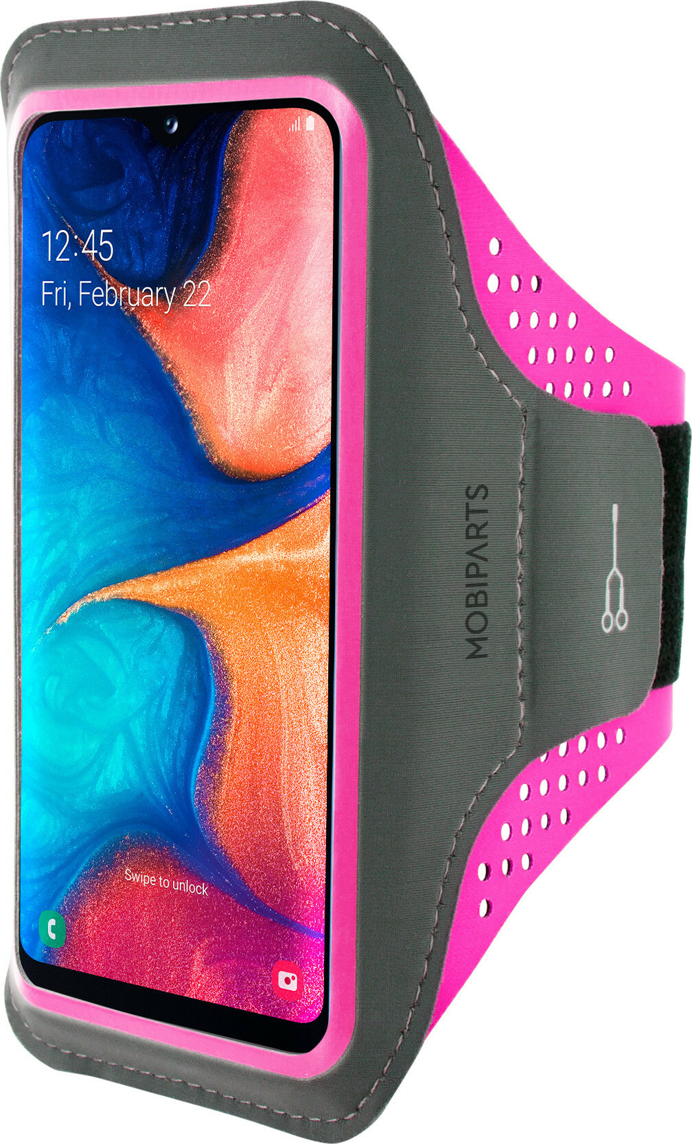 Mobiparts Comfort Fit Sport Armband Samsung Galaxy A20e (2019) Neon Pink