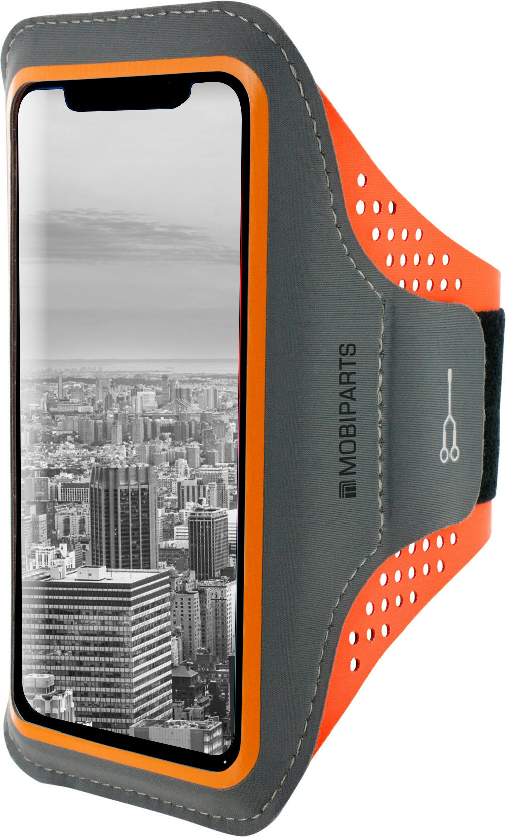 Mobiparts Comfort Fit Sport Armband Samsung Galaxy J6 (2018) Neon Orange