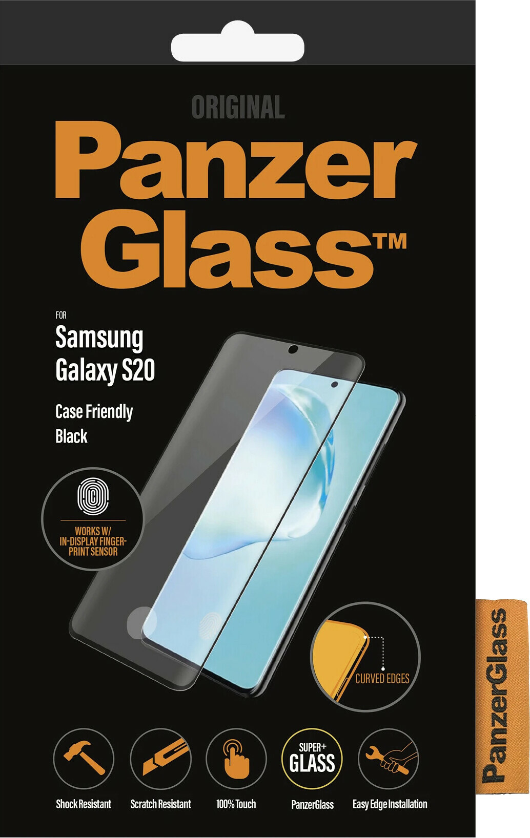 PanzerGlass Samsung Galaxy S20 FP Black Case Friendly Super+ Glass