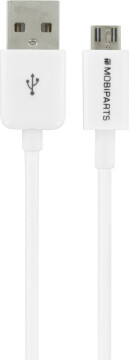 Mobiparts Micro USB to USB Cable 2.4A 25 cm White (Bulk)
