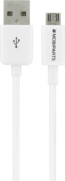 Mobiparts Micro USB to USB Cable 2.4A 3m White