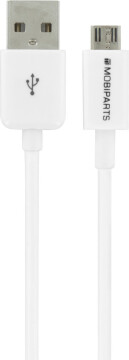 Mobiparts Micro USB to USB Cable 2A 50 cm White