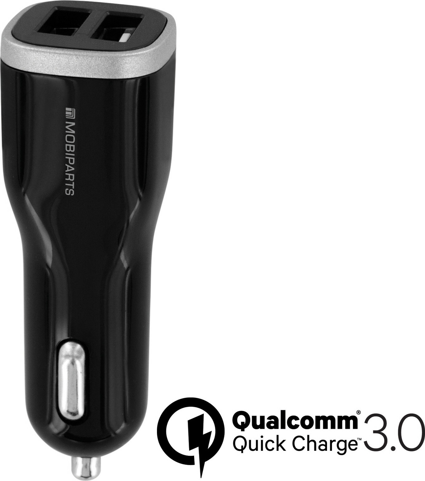 Mobiparts Quick Charge Car Charger Dual USB 5A Black