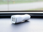Mobiparts Car Charger Dual USB 2.4A White