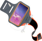 Mobiparts Comfort Fit Sport Armband Samsung Galaxy S10 Neon Orange