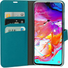 Mobiparts Saffiano Wallet Case Samsung Galaxy A70 Turquoise