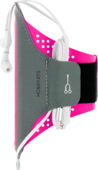 Mobiparts Comfort Fit Sport Armband Samsung Galaxy A71 (2020) Neon Pink