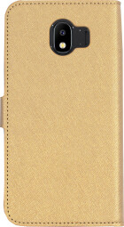 Mobiparts Saffiano Wallet Case Samsung Galaxy J4 (2018) Gold