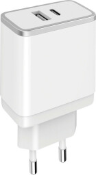 Mobiparts Wall Charger Dual USB-A en USB-C 2.4A White
