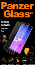 PanzerGlass Samsung Galaxy S10 FP Black Case Friendly Super+ Glass