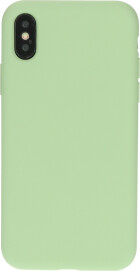 Mobiparts Silicone Cover Apple iPhone X/XS Pistache Green