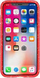 Speck Presidio Clear + Glitter Apple iPhone X/XS Red Fireworks