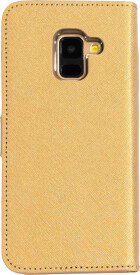 Mobiparts Saffiano Wallet Case Samsung Galaxy A8 (2018) Gold
