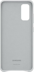 Samsung Galaxy S20 Leather Cover Light Gray
