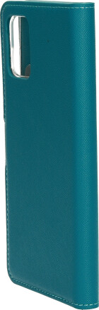 Mobiparts Saffiano Wallet Case Samsung Galaxy A71 (2020) Turquoise