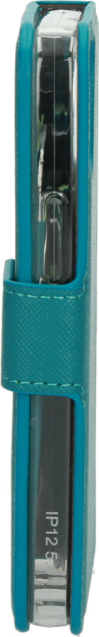 Mobiparts Saffiano Wallet Case Apple iPhone 12 Mini Turquoise