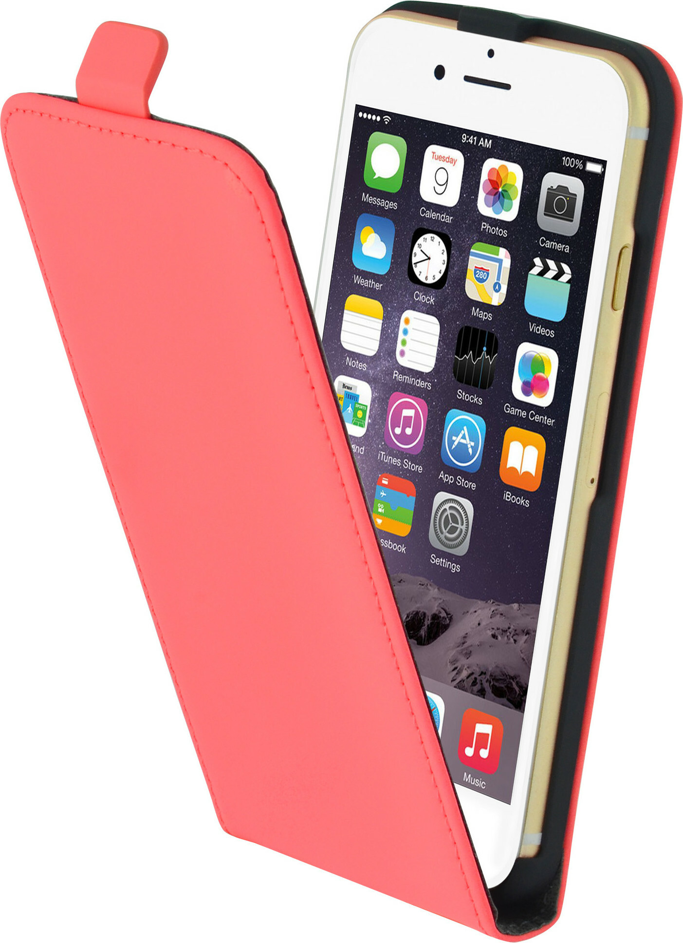 Mobiparts Premium Flip Case Apple iPhone 6/6S Peach Pink