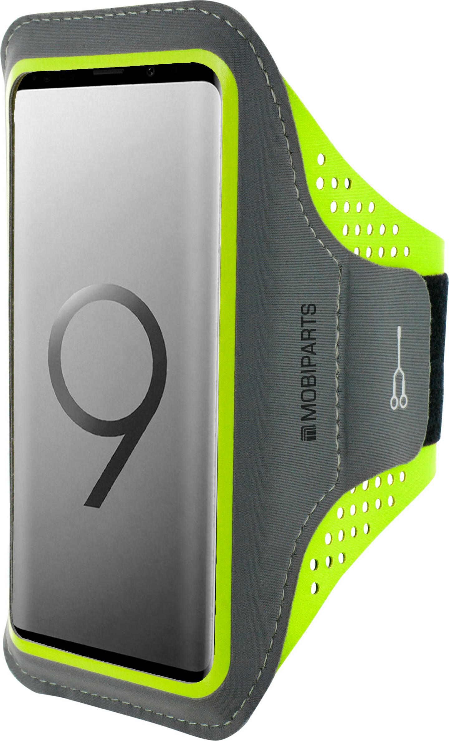Mobiparts Comfort Fit Sport Armband Samsung Galaxy S9 Plus Neon Green