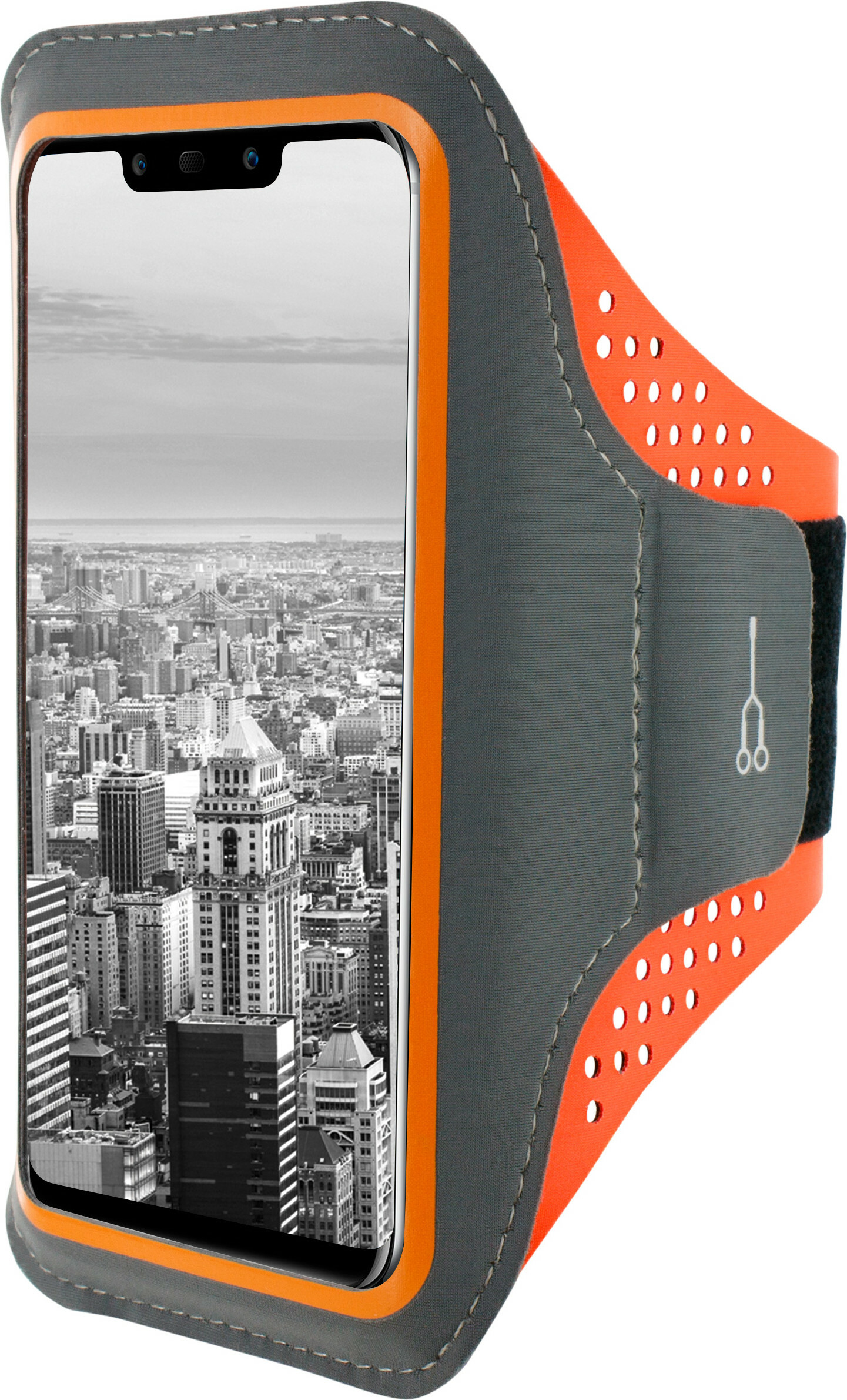 Mobiparts Comfort Fit Sport Armband Huawei Mate 20 Lite Neon Orange