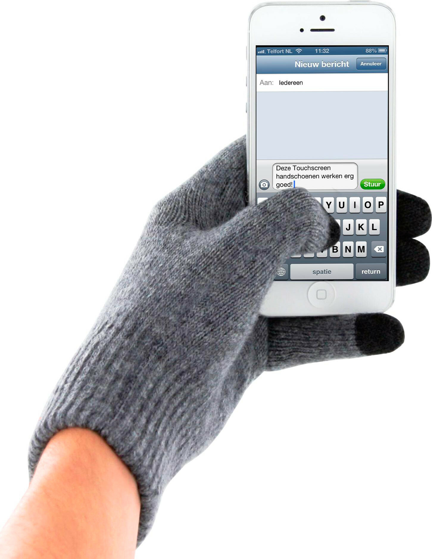 Mobiparts Touchscreen Gloves Grey (Size M)