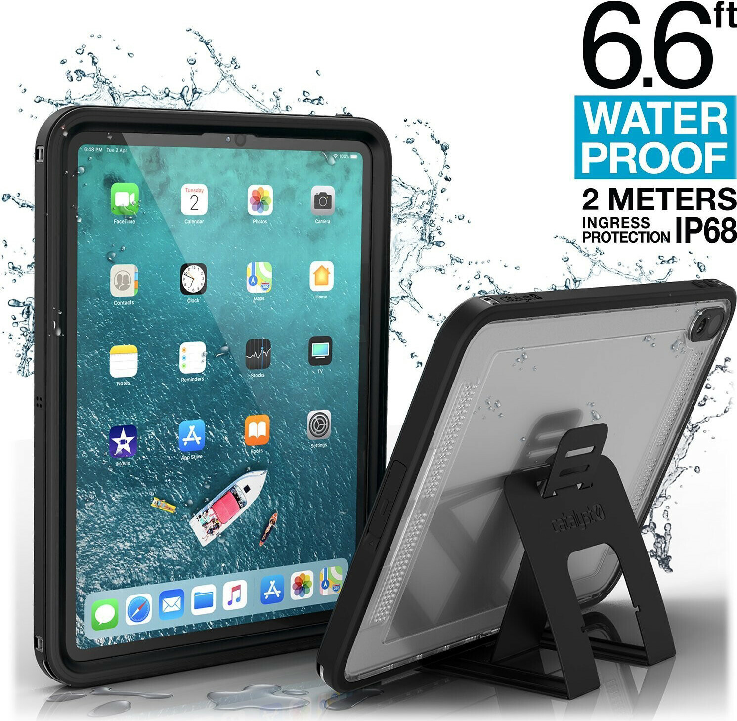 Catalyst Waterproof Case Apple iPad 9.7 (2017)/Apple iPad 9.7 (2018) Stealth Black