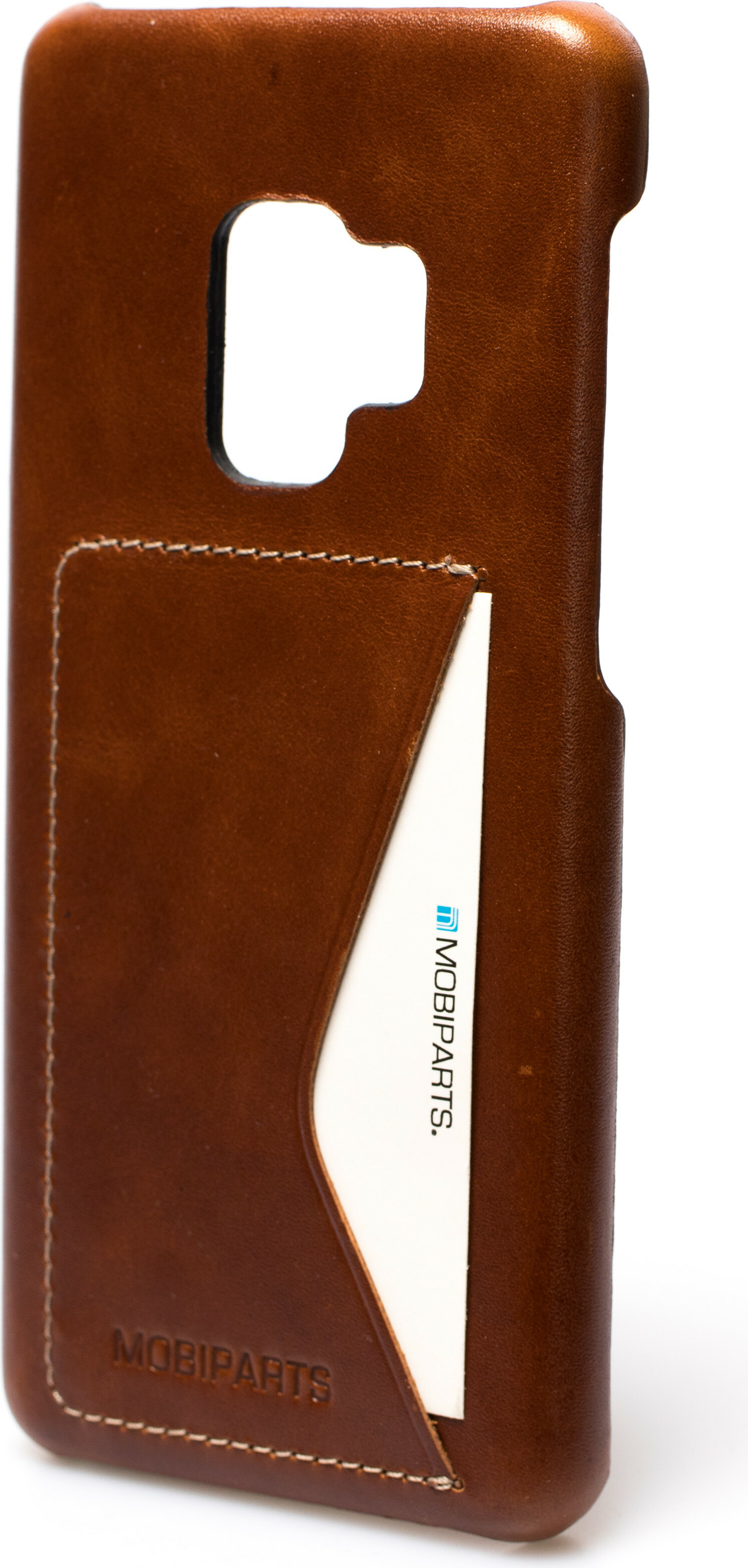 Mobiparts Excellent Backcover Samsung Galaxy S9 Oaked Cognac