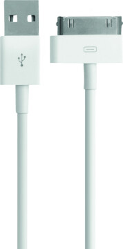 Mobiparts Apple 30 Pin to USB Cable 2.4A 1m White