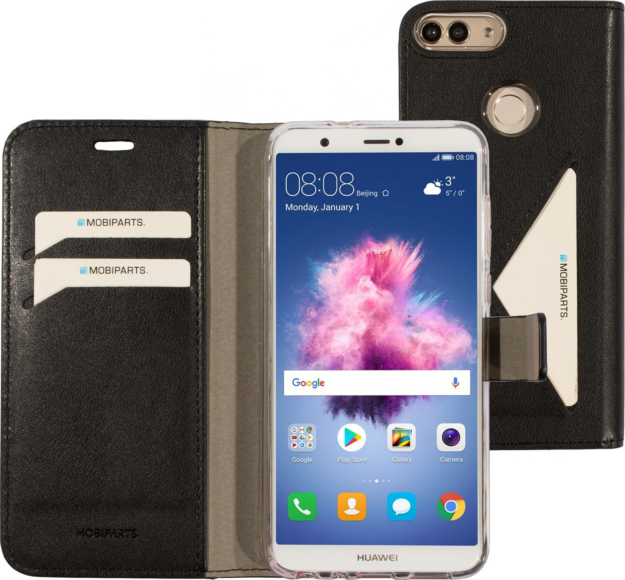 Mobiparts Classic Wallet Case Huawei P Smart (2018) Black
