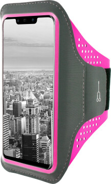 Mobiparts Comfort Fit Sport Armband Huawei Mate 20 Lite Neon Pink
