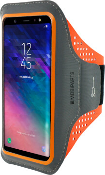 Mobiparts Comfort Fit Sport Armband Samsung Galaxy A6 (2018) Neon Orange