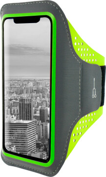Mobiparts Comfort Fit Sport Armband Apple iPhone XR Neon Green