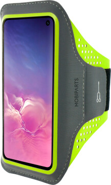 Mobiparts Comfort Fit Sport Armband Samsung Galaxy S10e Neon Green