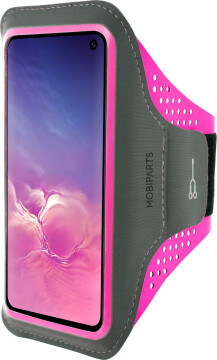 Mobiparts Comfort Fit Sport Armband Samsung Galaxy S10e Neon Pink