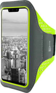 Mobiparts Comfort Fit Sport Armband Huawei Mate 20 Lite Neon Green