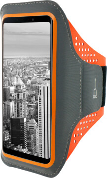 Mobiparts Comfort Fit Sport Armband Samsung Galaxy A9 (2018) Neon Orange