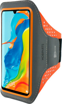 Mobiparts Comfort Fit Sport Armband Huawei P30 Lite Neon Orange