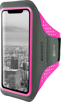 Mobiparts Comfort Fit Sport Armband Apple iPhone XS Max Neon Pink