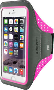 Mobiparts Comfort Fit Sport Armband Apple iPhone 6/6S/7/8 Neon Pink