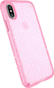 Speck Presidio Clear + Glitter Apple iPhone X/XS Bella Pink Gold Glitter