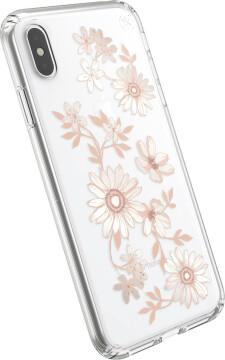 Speck Presidio Clear + Print Apple iPhone XS Max Fairytalefloral Peach Gold/Clear