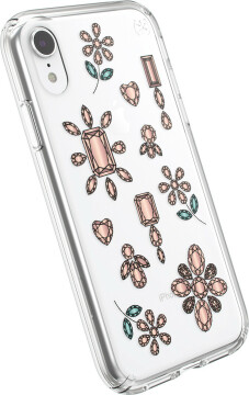 Speck Presidio Clear + Print Apple iPhone XR Dancingdiamonds Peach Gold/Clear