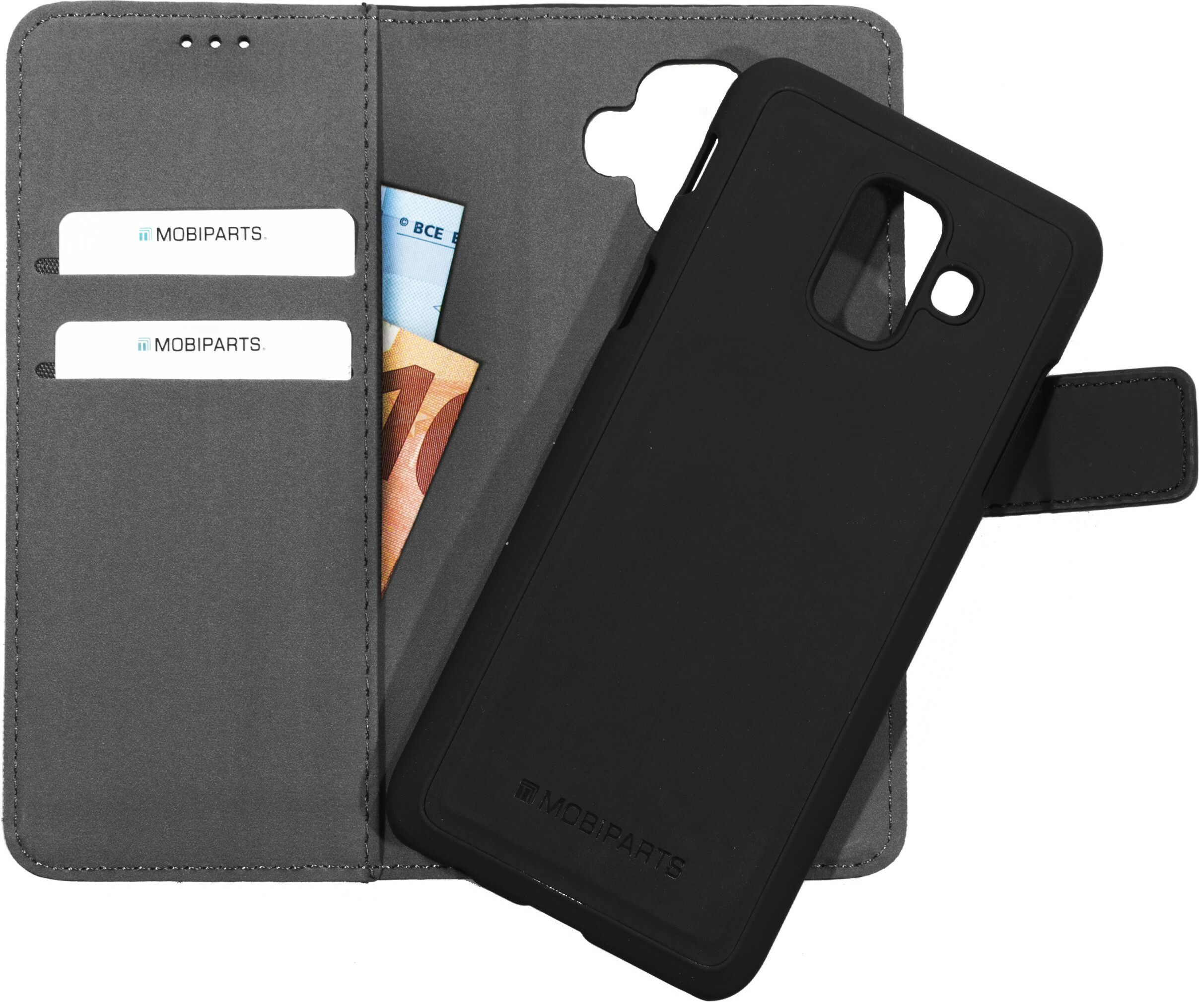 Mobiparts 2 in 1 Premium Wallet Case Samsung Galaxy A6 (2018) Black