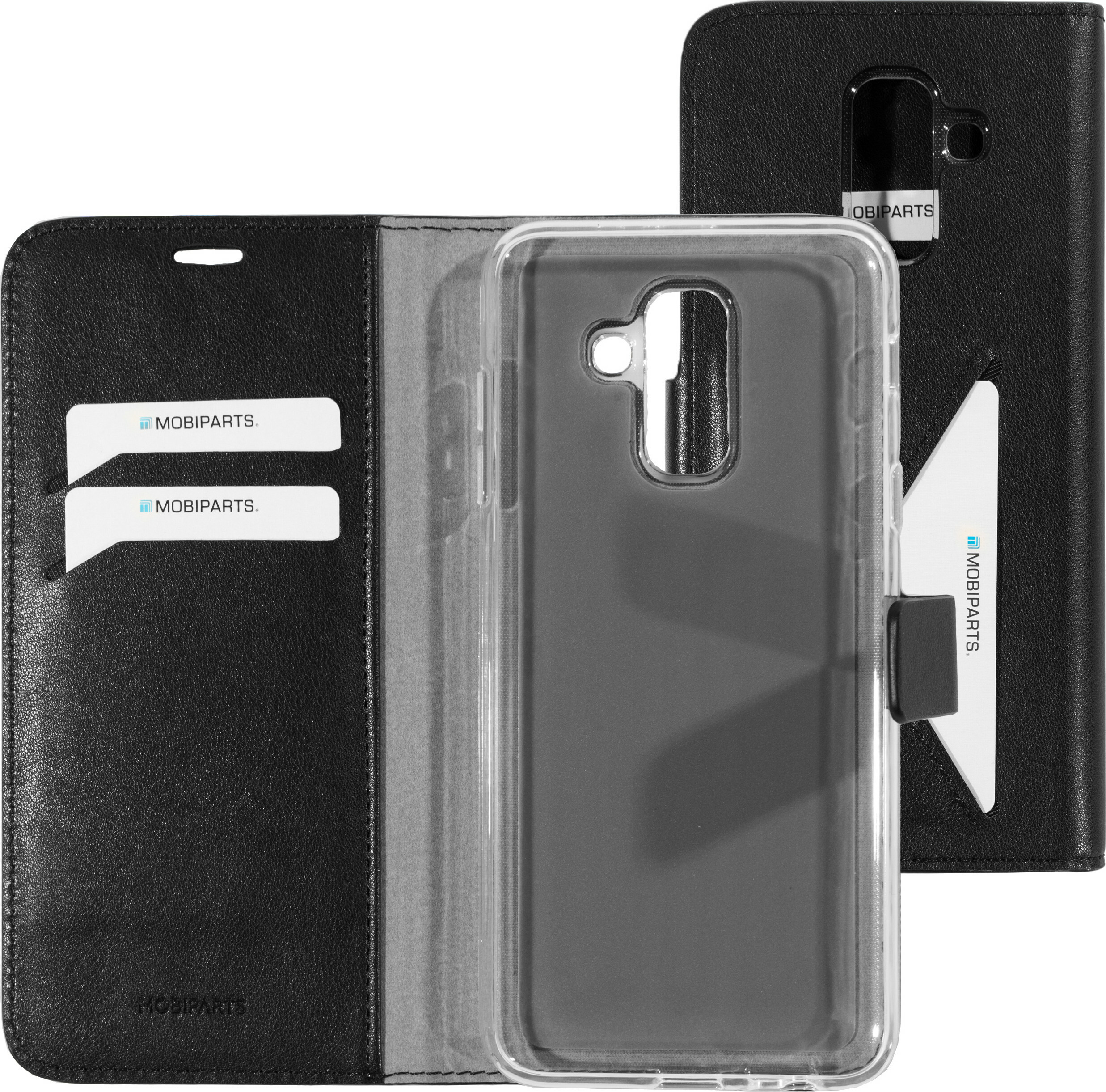 Mobiparts Classic Wallet Case Samsung Galaxy A6 Plus (2018) Black