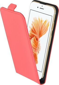 Mobiparts Premium Flip Case Apple iPhone 7/8/SE (2020) Peach Pink