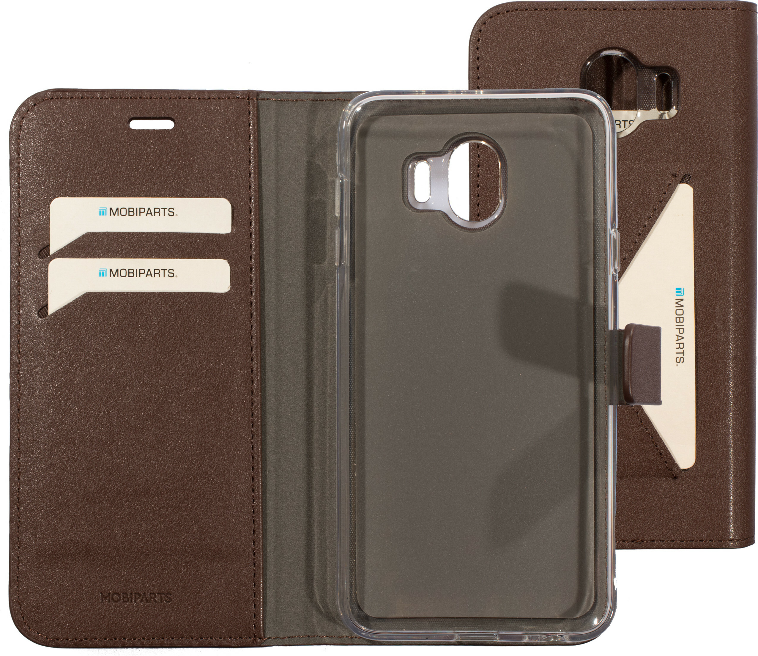 Mobiparts Classic Wallet Case Samsung Galaxy J4 (2018) Brown